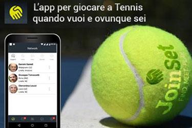 JoinSet: l'app per la community di tennisti finanziata dal bando TecnoNidi